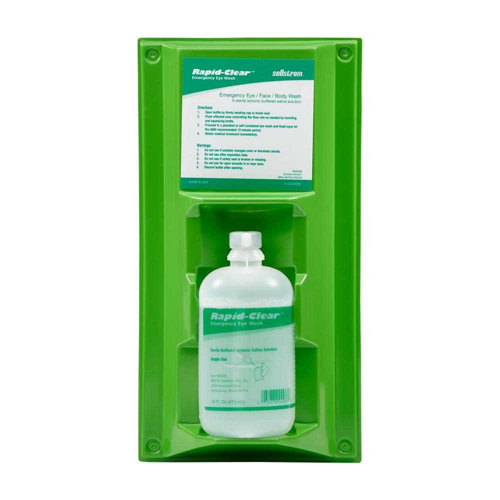 Rapid-Clear Portable Eyewash Bottle Stations